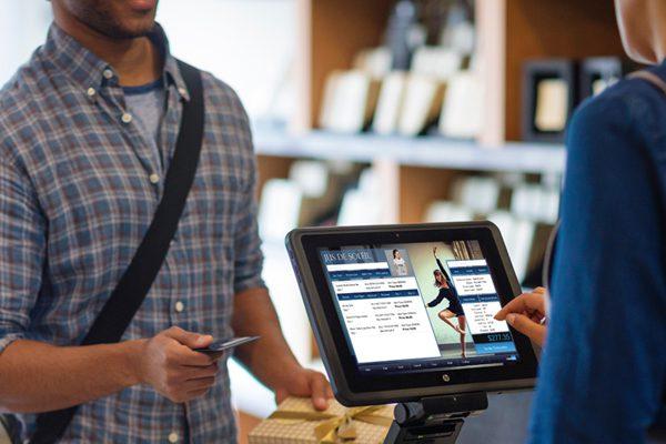 sales associate executes sale fullfullment using Retail Pro Prism POS
