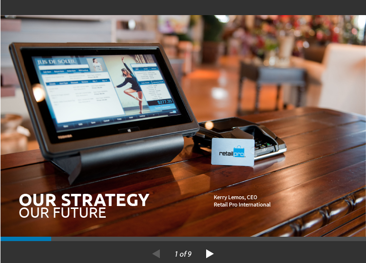 See the strategy and future behind the Retail Pro retail management platform