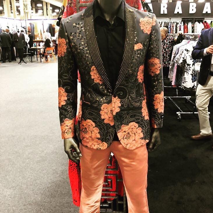 Suit on mannequin - apparel retail tradeshow