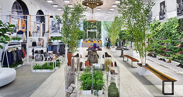 The visual design of Timberland's Manhattan flagship store