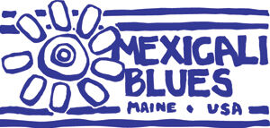 Mexicali Blues logo of a sun/flower