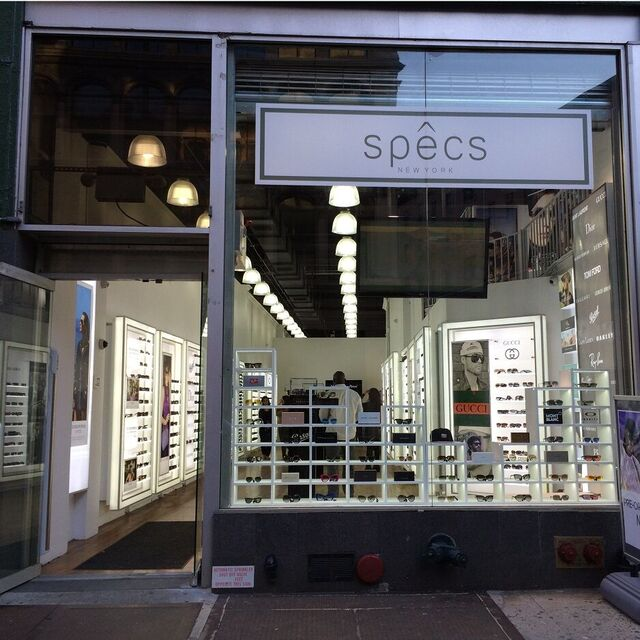 Another shot of the storefront with a better view of glasses on shelves